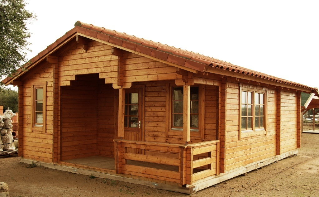 Almeria b cabin home ez log structures for 1000 square foot log cabin kits